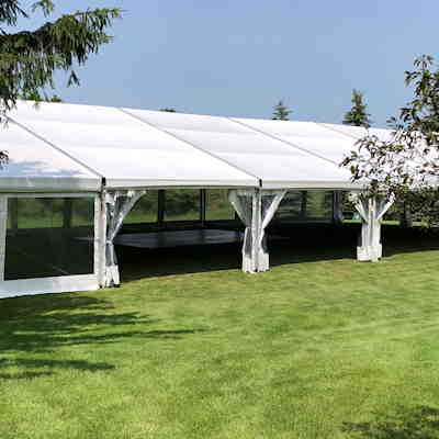 Farm wedding tent