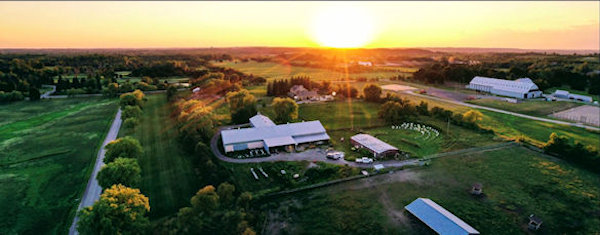 arial photo of the farm