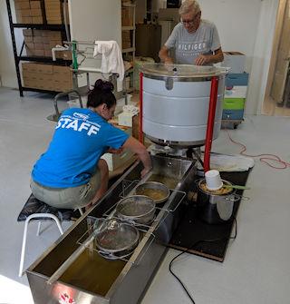 Extracting honey at CHF