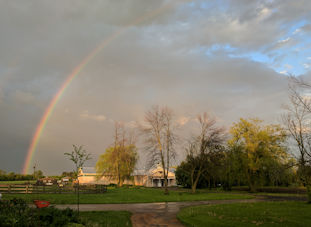A rainbow on the farm