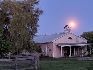 CHF Stable with the moon rising